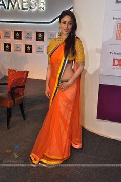 Kareena Kapoor at FICCI Frames 2013 Saree by Manish Malhotra - love the colors + blouse