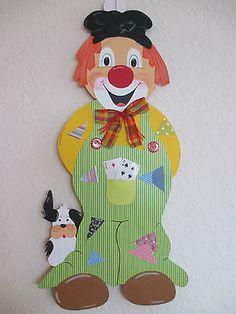 Fensterbild,Tonkarton Clown Heinz XXL,Sommer,Herbst,Deko,Kinder