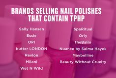 TPHP is an endocrine disrupter that is absorbed through finger nails into the body