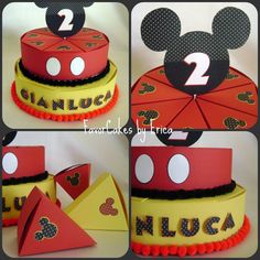Mickey Mouse Theme Favor Box Cake  Please Contact Me by FavorCakes, $3.25 Mickey Mouse Bday, Mickey Party, Minnie Mouse Party, Mouse Parties, Mickey Cupcakes, Bolo Cake, Birthday Party Decorations Diy, Bazaar Ideas, 3d Paper Crafts