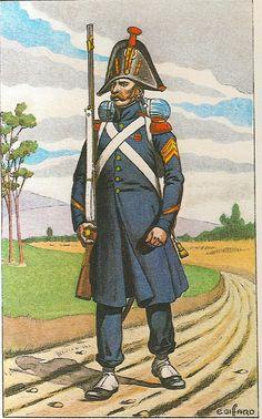 French; Imperial Guard, 1st & 2nd Regiments Grenadiers a Pied, Sergeant - Tenue de route. 1813 -1814