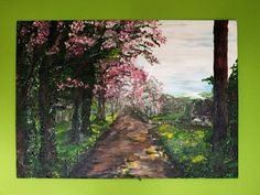 Droga Akryl na płycie, 50 x 70, ręcznie malowany