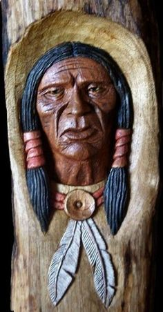 3Crosseswoodcarving - Native Americans & Mtn. Men