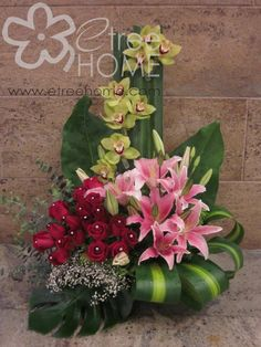 Congratulatory Flower: Cymbidium, Stargazer, Rose