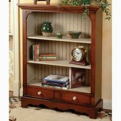 Solid pine bookcases and pine chests are great additions to your pine wood furniture. See them at American Country. Pine Wood Furniture, Cottage Furniture, Country Furniture, Repurposed Furniture, Country Decor, Furniture Decor, Painted Furniture, Pine Bookcase, Bookshelves