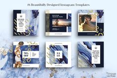 INDIGO Instagram Template Pack by Vintage To Vectors on @creativemarket #creativemarket #ideas #inspiration #creative #design #graphicdesign #female #best #style #social #media #socialmedia #socialmediamarketing #marketing #digital #digitalmarketing #onlinebusiness #onlinemarketing #instagram