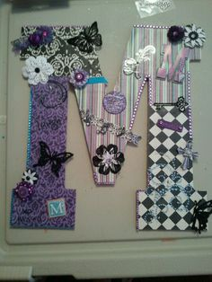 handcrafted for daughters roommate for dorm room.  Check out my facebook page ~ ScrapNix Designs for more ideas