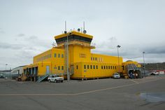 Terminal and Control tower.  Iqaluit (Frobisher Bay) (CYFB), Nunavut, Canada.