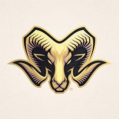Ram Mascot Design  www.Absorb81.com  #Ram #Horns #Mascot #Mascotdesign #Logodesign #Artwork #Vector #Texture #Branding #Identity… Mascot Design, Logo Design, Capricorn Logo, Arte Aries, Goat Logo, Pick Art, Harley Davidson Art, Skull Logo, Identity