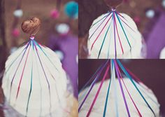 DIY tutorial: maypole heart wedding cake topper. Awesome image by Anna Hardy www.annahardy.co.uk/