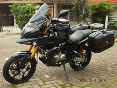Modifikasi Motor Tiger 2000 model Touring dengan fairing