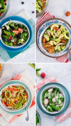 Take your fresh salads to the next level by adding a zesty dressing, as well as seasonal fruits and veggies. Salade Healthy, Healthy Salad Recipes, Easy Healthy Dinners, Healthy Snacks, Healthy Eating, Tasty Videos, Food Videos, Spring Salad, Spring Recipes