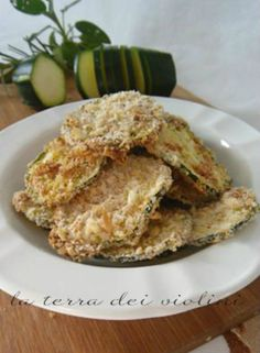 Rondelle di zucchine croccanti al forno, finger food sfizioso