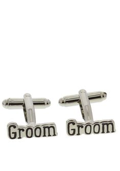 Wendy Jones-Blackett presents these quirky silver plated cufflinks which would be a great keepsake gift for your groom on your special day. Groom Cufflinks, Wedding Gifts, Decorations, Silver, Accessories, Wedding Thank You Gifts, Money, Wedding Favors, Deko