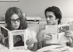 Jean-Pierre Léaud and Claude Jade in Domicile conjugal (1970)