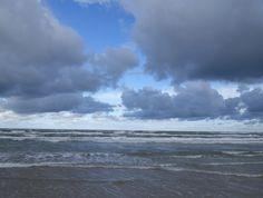 Wolken an der dänischen Atlantikküste