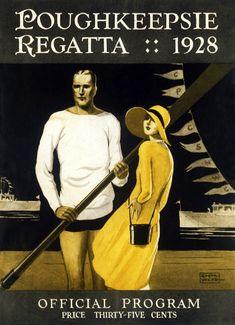 Poughkeepsie Regatta 1928 Rowing Crew Rower Girlfriend art poster print SKU2490 in Business & Industrial, Other Business & Industrial   eBay
