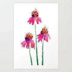 Echinacea Art Print by Brazen Edwards - $17.00