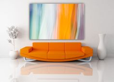 Nice selection of paintings for every home at affordable prices. Sofa, Couch, Modern Art, Hand Painted, White Light, Light Blue, Interior Design, Abstract Paintings, Furniture