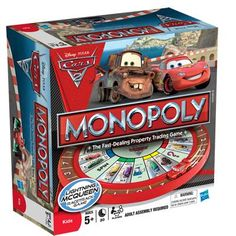 Disney Pixar Cars 2 Monopoly game - for Isek Monopoly Game, Disney Pixar Cars, Games To Play, Playing Games, 4 Year Olds, Online Games, Board Games, Nerdy, Toys