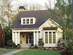 Small House Exterior Simple Design Home Plans 4 Colors Small Cottage House Plans, Small Cottage Homes, Southern Living House Plans, Simple House Plans, Cottage Plan, Cottage Style Homes, Best House Plans, Cozy Cottage, Small Cottages