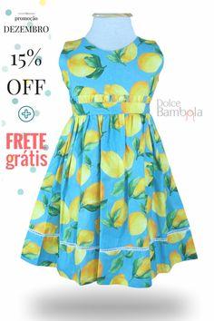 Vestido azul limão siciliano