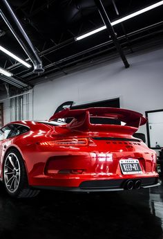 Visit The MACHINE Shop Café... ❤ Best of Porsche @ MACHINE ❤ (Red PORSCHE 911 GT3 Coupé)