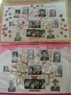 Note to Janet: Make one for each leg of Granddaddys Siblings, That legs family thumb print and Sell off. Family History/Genealogy placemats craft for children (great family reunion idea!