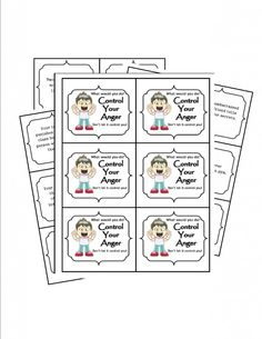 Free Anger Management Printable to celebrate 600 followers on Pintrest :)
