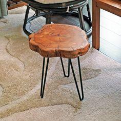 Union Rustic Sari Unique Wood Stump Rustic Surface End Table Wood Slab Table, Wood Tray, Cedar Table, Diy End Tables, End Table Sets, Wood End Tables, Side Tables, Unique End Tables, Tree Stump Table