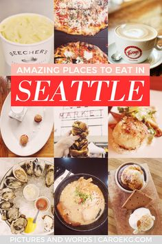 Wondering where to eat in Seattle? Here are some of the best places to eat in Seattle and some of the best Seattle restaurants and bars! This is the perfect Seattle foodie list of all my favorites. Seattle Restaurants, Seattle Food, Seattle Sights, Seattle Coffee, Seattle Travel Guide, Travel Tips, Usa Travel, Seattle Vacation, Beach Travel