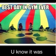 This would be on the top of my list for those days when everyone is getting along. It's such a simple but amazingly fun game of running across the parachute.