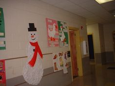 Snowman made of snowflakes.  We wrote a class story about him once he was assembled.