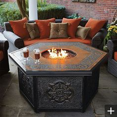 Outdoor Firepits By Frontgate - Style Estate...love this so much!
