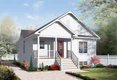 House Plan 76185 | Plan with 1042 Sq. Ft., 2 Bedrooms, 1 Bathrooms