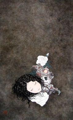 Takato Yamamoto - After graduating from the painting department of the Tokyo Zokei University, he experimented with the Ukiyo-e Pop style. Ero Guro, Graffiti Photography, Art Chinois, Japanese Artwork, Arte Horror, Japan Art, Surreal Art, Yamamoto, Art Tutorials