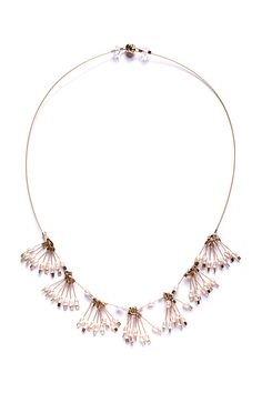 Tassel+Necklace by Meghan+Patrice+Riley: Steel+&+Pearl+Necklace available at www.artfulhome.com