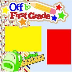 NEW First Grade 2-page 12 X 12 Premade Scrapbook by MemoriesByDezyn, $14.95