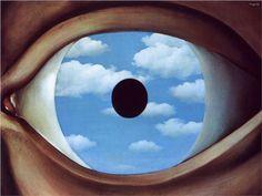 Um de meus quadros preferidos. Ver pessoalmente é uma experiência de outro mundo. The false mirror - Rene Magritte