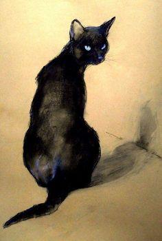By Béla Tarcsay (Hungarian, b. 1952), Lucretia, pastel.