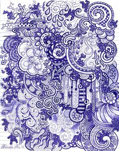Ball point pen doodles by Michelle aka GenerallySpeaking