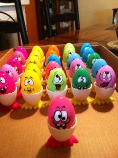 Funny Faced Eggs