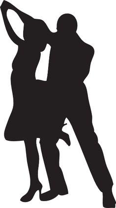 dance silhouette clip art | Dancer Silhouettes clip art - vector clip art online, royalty free ...