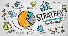 Strategy Development Goal Marketing Vision Planning Business Con - Buy this stock illustration and explore similar illustrations at Adobe Stock Marketing Technology, Inbound Marketing, Affiliate Marketing, Social Media Marketing, Online Marketing, Marketing Branding, Marketing Digital, Visual Thinking, Local Seo Services