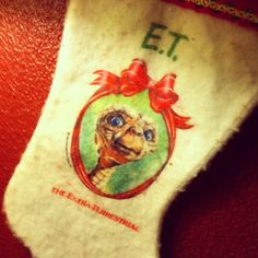 E.T. christmas stocking. Photo by jojogriggs