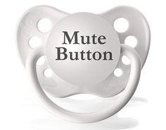 Fancy - Mute Button Pacifier