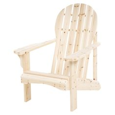 Beautifully crafted of cedar wood, this classic Adirondack chair makes the perfect addition to your three-season porch or patio.