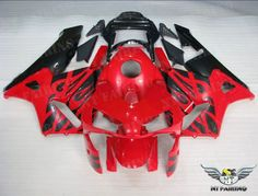 NT Red Black Injection Plastic Fairing Fit for 03-04 Honda CBR 600 RR F5 d012
