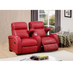 Relax in comfort and style with this ultra-premium reclining home theater seating set. This luxurious leather living room furniture is handcrafted using the finest quality materials to create exquisite leather furniture