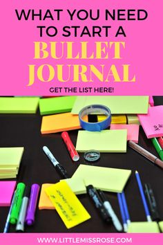 If you're looking to start a bullet journal and don't know what you need in order to start. Read this and find out everything you need to know about bullet journal stationery supplies. Making A Bullet Journal, Bullet Journal Contents, Bullet Journal For Beginners, Bullet Journal Tracker, Bullet Journal How To Start A, Bullet Journal Junkies, Bullet Journal Spread, Bullet Journal Layout, Bullet Journal Inspiration